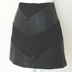 FOREVER 21 Faux Suede & Leather Mini Skirt M NWT